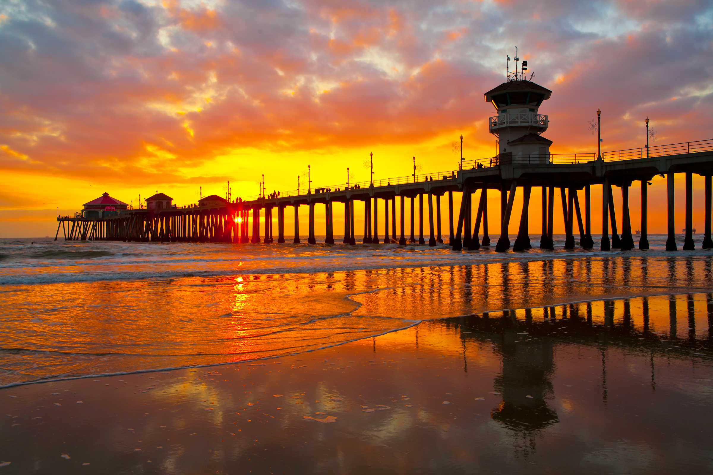 Orange county piers california beaches for Beach cities in california